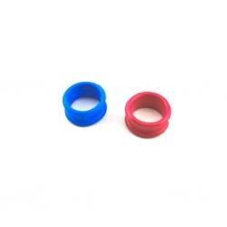 Augenringe - breite Ausführung - Rot oder Blau
